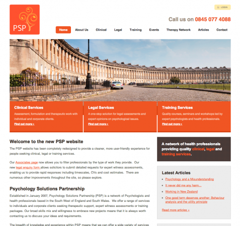 Web Design & CMS for Bristol Firm