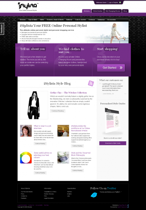 Fashion & Shopping Web Design