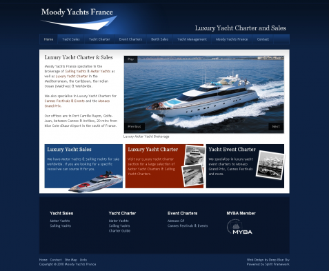 Web Design for Luxury Yacht Broker